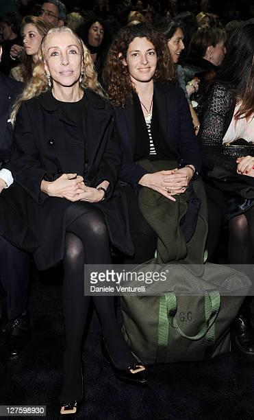 Franca Sozzani and Ginevra Elkann attend the Gucci Autumn/Winter 2011 fashion show as part of the Womenswear Milan Fashion Week on February 23 2011...