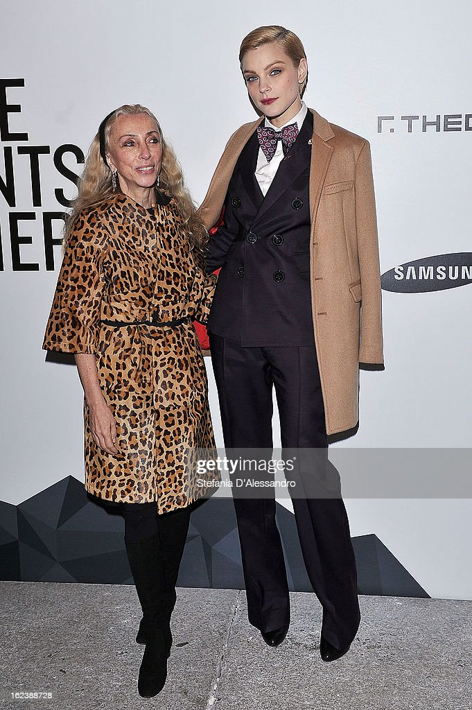 <a gi-track='captionPersonalityLinkClicked' href=/galleries/search?phrase=Franca+Sozzani&family=editorial&specificpeople=639425 ng-click='$event.stopPropagation()'>Franca Sozzani</a> (L) and <a gi-track='captionPersonalityLinkClicked' href=/galleries/search?phrase=Jessica+Stam&family=editorial&specificpeople=657570 ng-click='$event.stopPropagation()'>Jessica Stam</a> attend The Vogue Talent's Corner held at Palazzo Morando during Milan Fashion Week Womenswear Fall/Winter 2013/14 on February 22, 2013 in Milan, Italy.