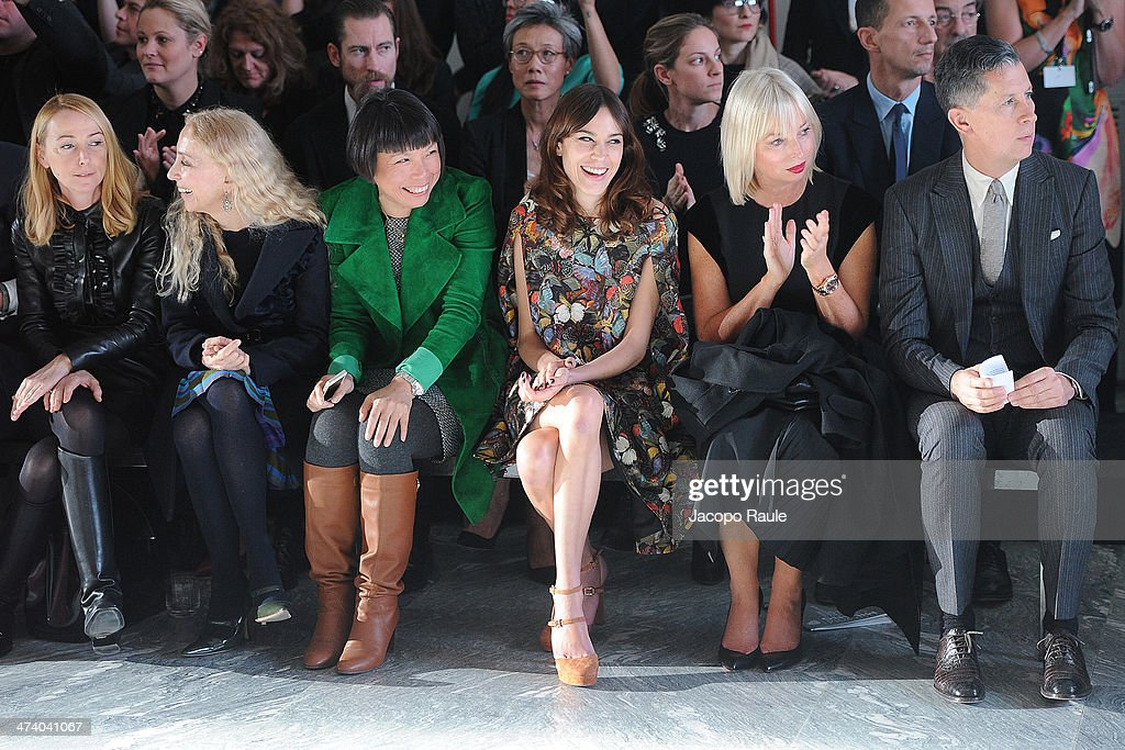 Franca Sozzani Angelica Cheung Alexa Chung and Stefano Tonchi attend International Woolmark Prize during Milan Fashion Week Womenswear Autumn/Winter...