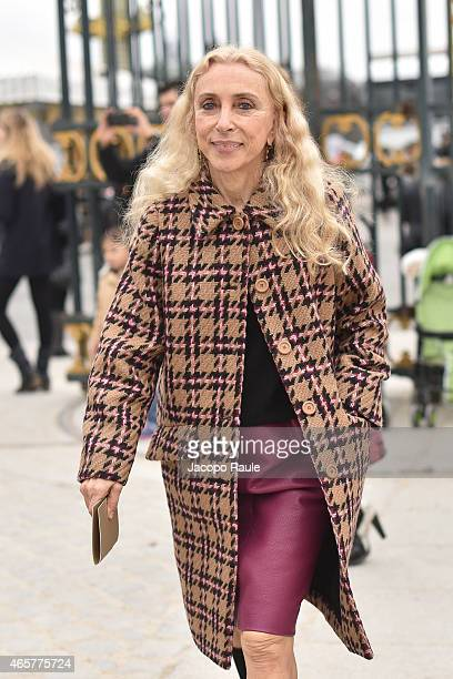 Franca Sozzani arrives at Valentino Fashion Show during Paris Fashion Week Fall Winter 2015/2016 on March 10 2015 in Paris France