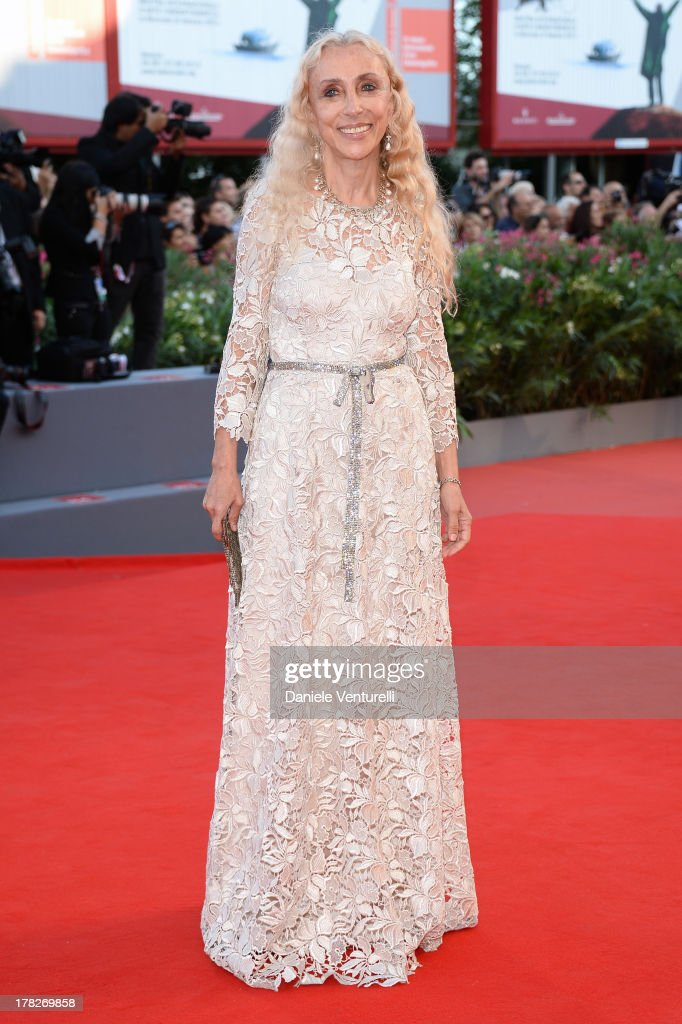 Franca Sozzani attends 'Gravity' premiere and Opening Ceremony during The 70th Venice International Film Festival at Sala Grande on August 28, 2013 in Venice, Italy.