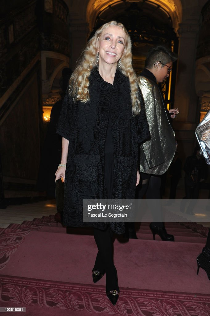<a gi-track='captionPersonalityLinkClicked' href=/galleries/search?phrase=Franca+Sozzani&family=editorial&specificpeople=639425 ng-click='$event.stopPropagation()'>Franca Sozzani</a> attends the Atelier Versace show as part of Paris Fashion Week Haute Couture Spring/Summer 2014 on January 19, 2014 in Paris, France.