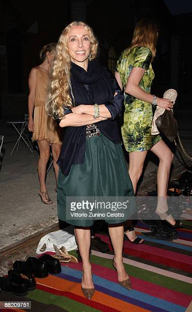 Franca Sozzani attends the Bruce Nauman dinner party hosted by Missoni on the boat 'Timoteo' during the 2009 Venice Biennale on June 4 2009 in Venice...