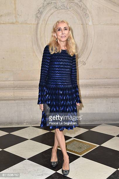 Franca Sozzani attends the Christian Dior show of the Paris Fashion Week Womenswear Spring/Summer 2017 on September 30 2016 in Paris France