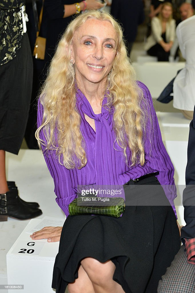 <a gi-track='captionPersonalityLinkClicked' href=/galleries/search?phrase=Franca+Sozzani&family=editorial&specificpeople=639425 ng-click='$event.stopPropagation()'>Franca Sozzani</a> attends the Iceberg show as a part of Milan Fashion Week Womenswear Spring/Summer 2014 on September 20, 2013 in Milan, Italy.