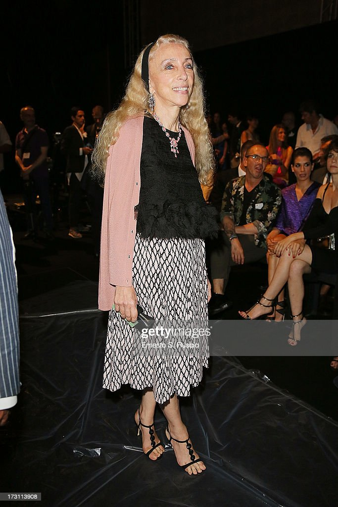 <a gi-track='captionPersonalityLinkClicked' href=/galleries/search?phrase=Franca+Sozzani&family=editorial&specificpeople=639425 ng-click='$event.stopPropagation()'>Franca Sozzani</a> attends the Jean Paul Gaultier Couture fashion show as part of AltaRoma AltaModa Fashion Week Autumn/Winter 2013 on July 7, 2013 in Rome, Italy.