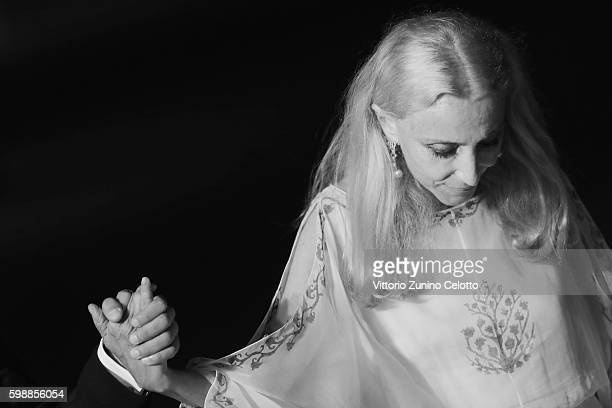 Franca Sozzani attends the premiere of 'Franca Chaos And Creation' during the 73rd Venice Film Festival at Sala Giardino on September 2 2016 in...