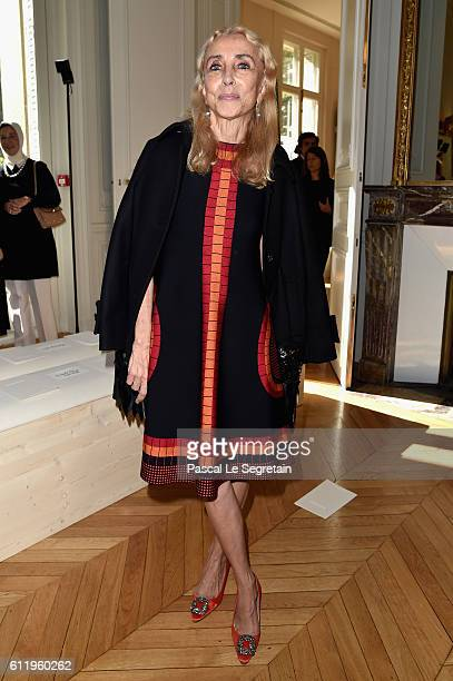 Franca Sozzani attends the Valentino show as part of the Paris Fashion Week Womenswear Spring/Summer 2017 on October 2 2016 in Paris France