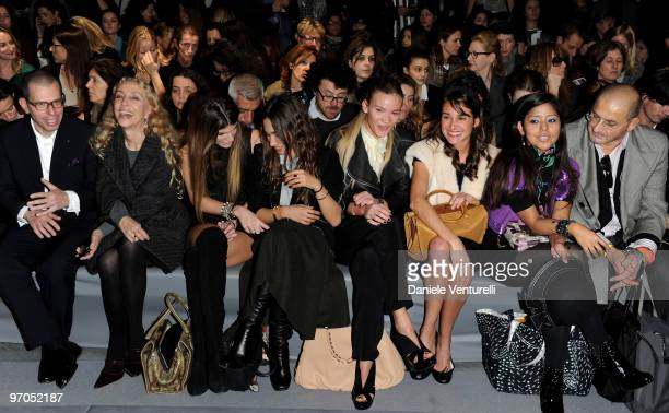 Franca Sozzani Bianca Brandolini D'Adda Delfina Delettrez Fendi Fiammetta Cicogna and Ambra Medda attend the Fendi Milan Fashion Week Autumn/Winter...