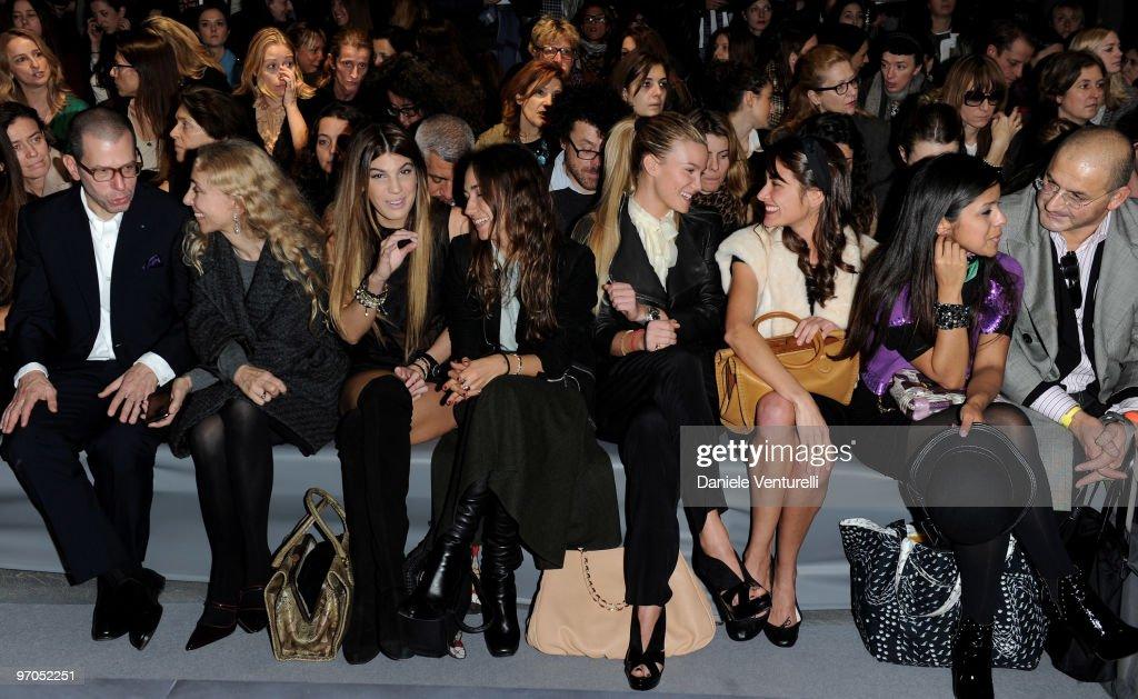 Franca Sozzani Bianca Brandolini D'Adda Delfina Delettrez Fendi Fiammetta Cicogna and Ambra Medda attend the Fendi Milan Fashion Week Autumn/Winter...