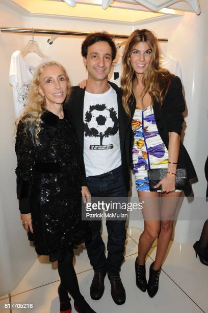 Franca Sozzani Carlos Miele and Bianca Brandolini attend Carlos Miele and Vogue Italia Celebrate Limited Edition of TShirts Designed by Lapo Elkann...