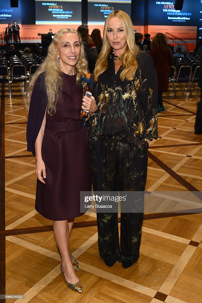 Franca Sozzani, Editor-in-Chief of Vogue Italia and Frida Giannini, Gucci Creative Director, attend the third day of the 2012 International Herald Tribune's Luxury Business Conference held at Rome Cavalieri on November 16, 2012 in Rome, Italy. The 12th annual IHT Luxury conference is the premier meeting point for the luxury industry. 500 delegates from 30 countries have gathered in Rome to hear from the world's most inspirational fashion designers and luxury business leaders.
