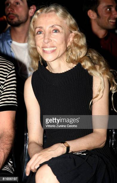 Franca Sozzani Editorinchief of Vogue Italia attends Carlo Pignatelli Outside fashion show as part of Milan Fashion Week Spring/Summer 2009 on June...