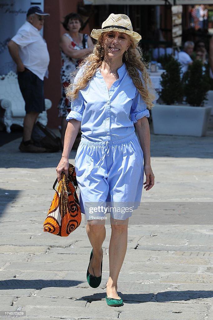 Franca Sozzani is seen on July 27 2013 in Portofino Italy