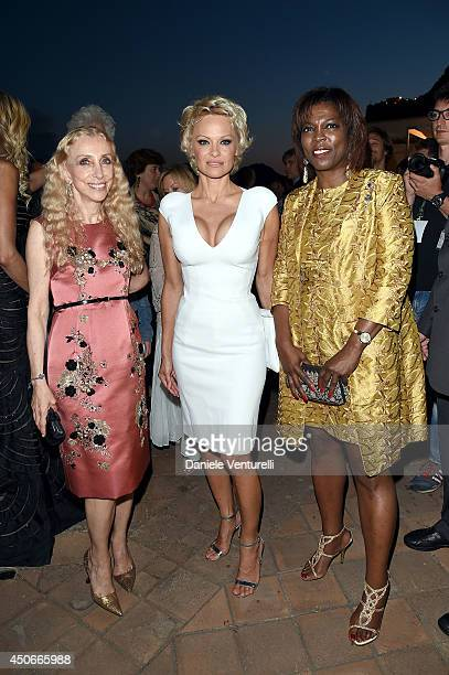 Franca Sozzani Pamela Anderson and Executive Director of the United Nations World Food Programme Ertharin Cousin attend the 60th Taormina Film Fest...