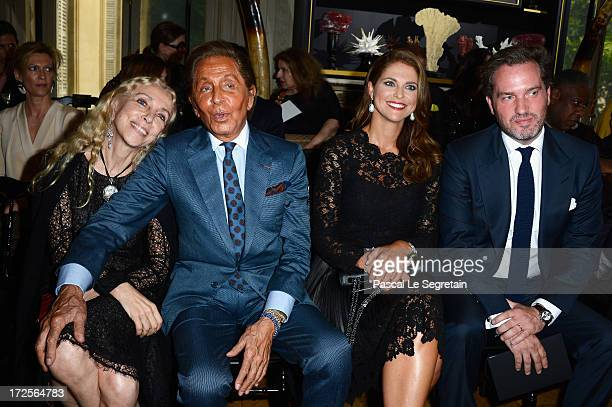 Franca Sozzani Valentino Garavani Princess Madeleine of Sweden and Christopher O'Neill attend the Valentino show as part of Paris Fashion Week...