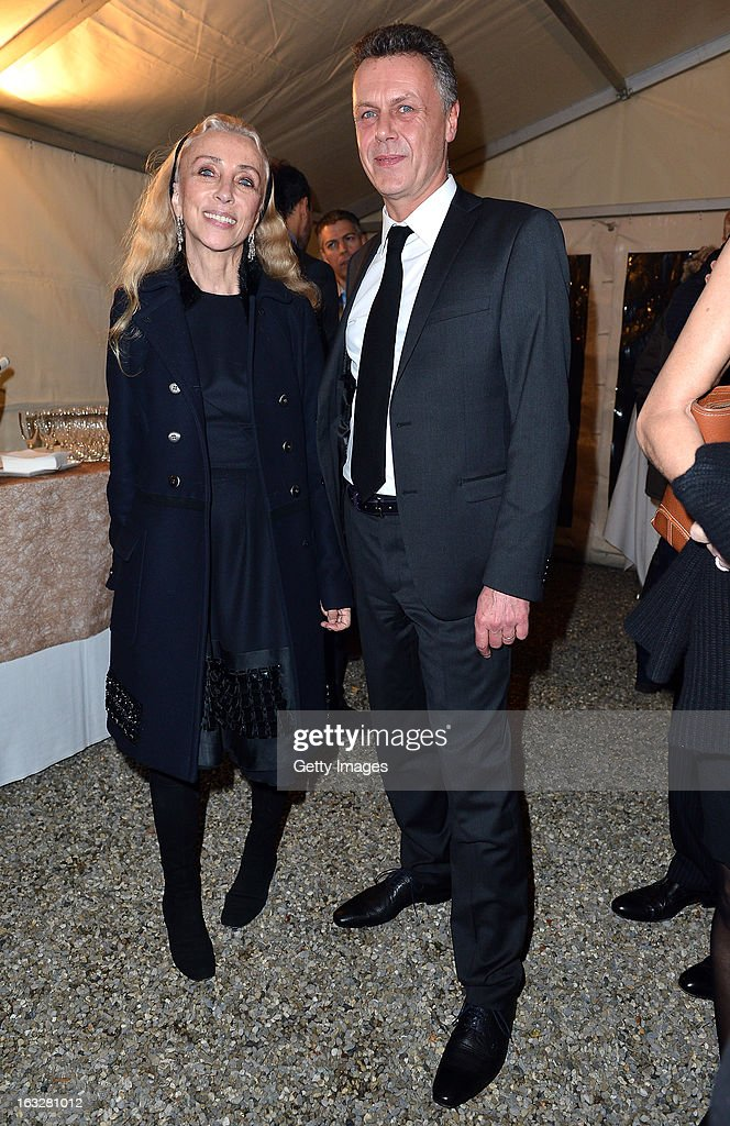 <a gi-track='captionPersonalityLinkClicked' href=/galleries/search?phrase=Franca+Sozzani&family=editorial&specificpeople=639425 ng-click='$event.stopPropagation()'>Franca Sozzani</a>, Vogue Italia Editor in Chief, and Thierry Metroz, Head of Citroen Design,attend the charity auctioning of the first 'Citroen DS3 Cabrio L'Uomo Vogue' hosted by L'Uomo Vogue and Citroen at the Permanent Mission of France to the United Nations Office on March 6, 2013 in Geneva, Switzerland.