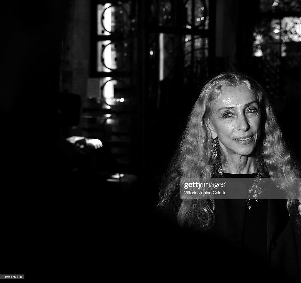 Franca Sozzani, Vogue Italia Editor in Chief, attends Citroen DS Sofa and DS3 Cabrio L'Uomo Vogue Limited Edition cocktail at Corso Como 10 on April 9, 2013 in Milan, Italy.