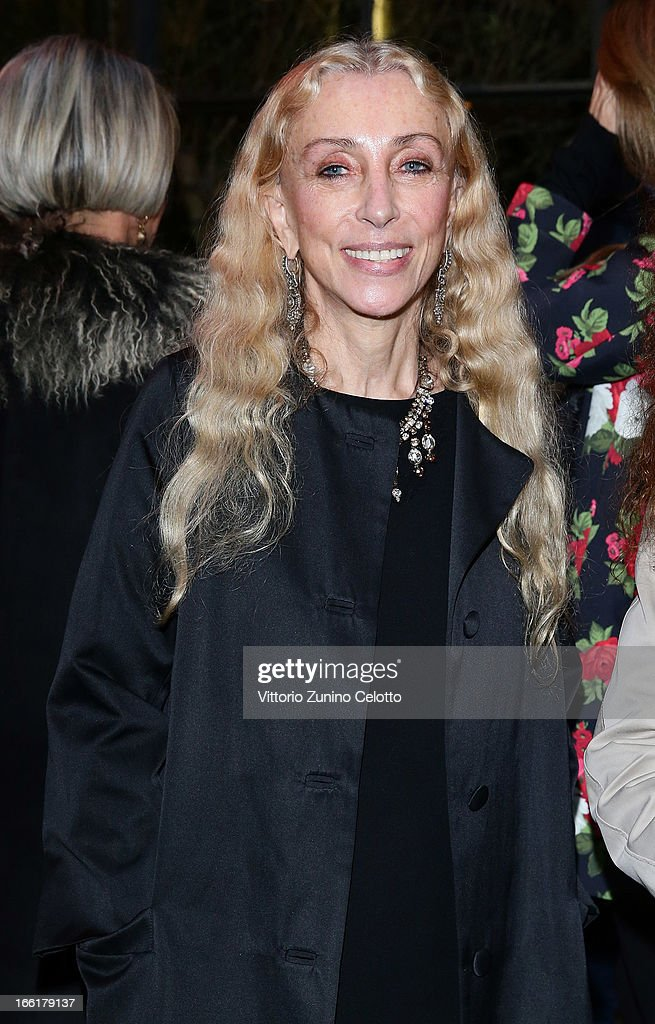 Franca Sozzani, Vogue Italia Editor in Chief attends Citroen DS Sofa and DS3 Cabrio L'Uomo Vogue Limited Edition cocktail at Corso Como 10 on April 9, 2013 in Milan, Italy.
