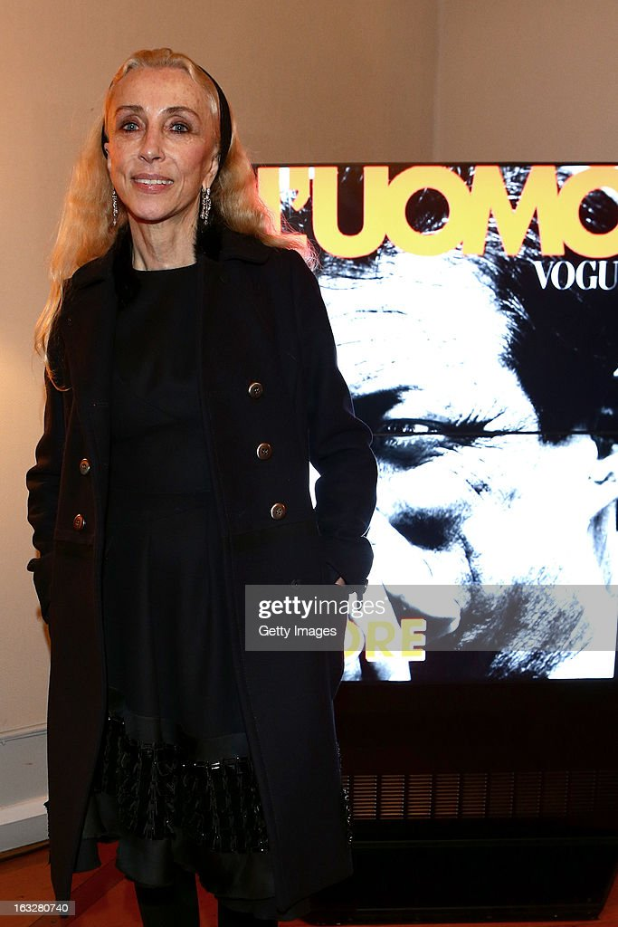 Franca Sozzani, Vogue Italia Editor in Chief, attends the charity auctioning of the first 'Citroen DS3 Cabrio L'Uomo Vogue' hosted by L'Uomo Vogue and Citroen at the Permanent Mission of France to the United Nations Office on March 6, 2013 in Geneva, Switzerland.