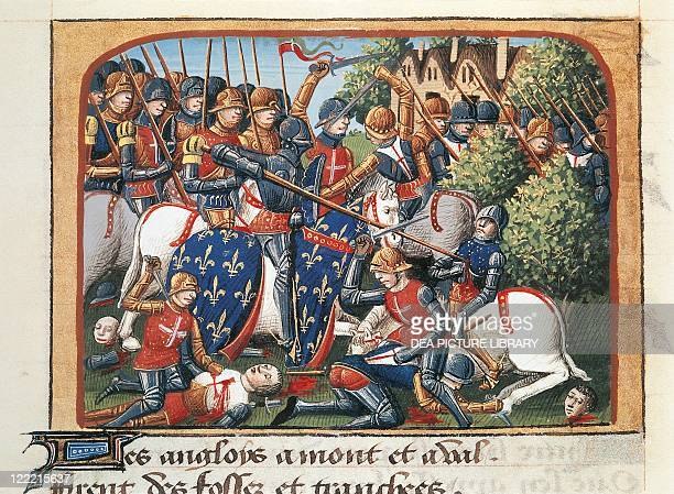 France 15th century Manuscript of the Chronicle of Charles VII Battle of Formigny