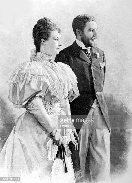 France 1896 Portrait of Duke of Orléans and Princess Dorothée