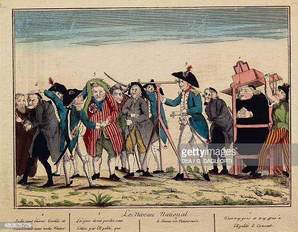 France 18th century French Revolution Caricature of the national levelling equality Print Paris Hôtel Carnavalet Cabinet Des Arts Graphiques