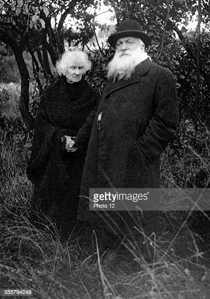 France 1916 French sculptor Auguste Rodin   photographed in the park of his villa at Meudon