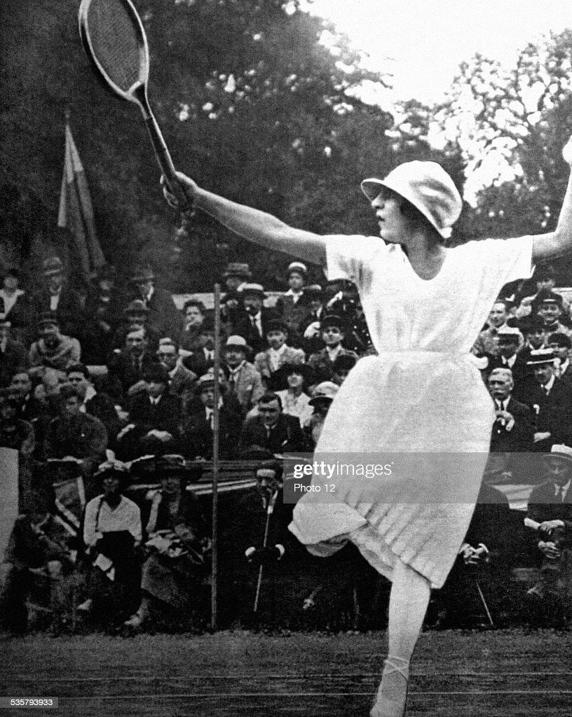 Tennis champion Suzanne Lenglen 1919