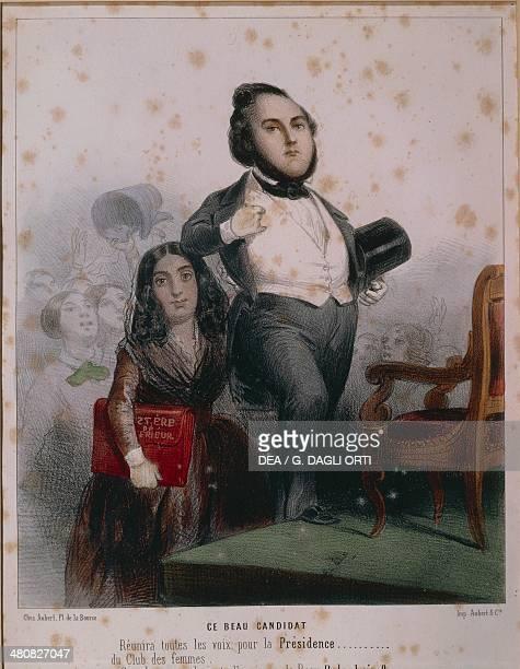 France 19th century Caricature depicting the legal action against Ledru Rollin and George Sand La Chatre Musée George Sand Et De La Vallée Noire