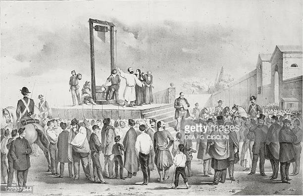 France 19th century The execution of Felice Orsini in Paris 13 March 1858