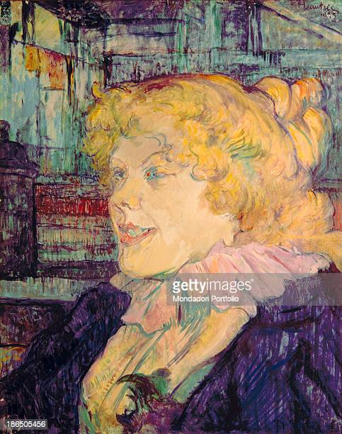 France Albi ToulouseLautrec Museum Whole artwork view Portrait of Miss Dolly English singer who performed at the 'Star' at Le Havre blonde with her...