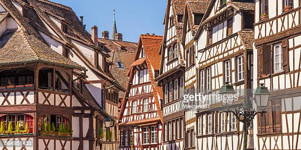France, Alsace, Strasbourg, Petite France, half-timbered houses