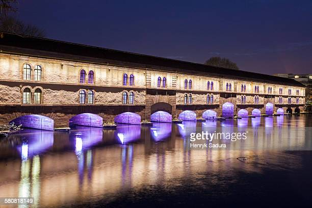 France, Alsace, Strasbourg, Petite-France, Covered bridge