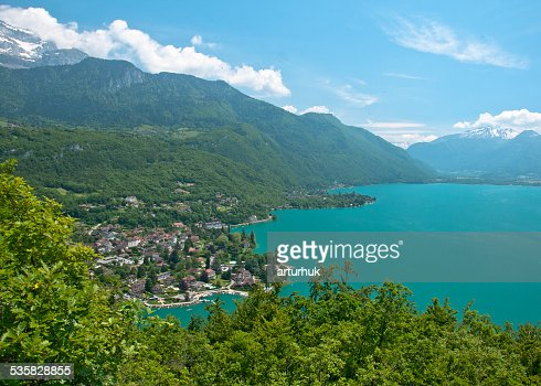 France, Annecy Lake, View of beautiful lake