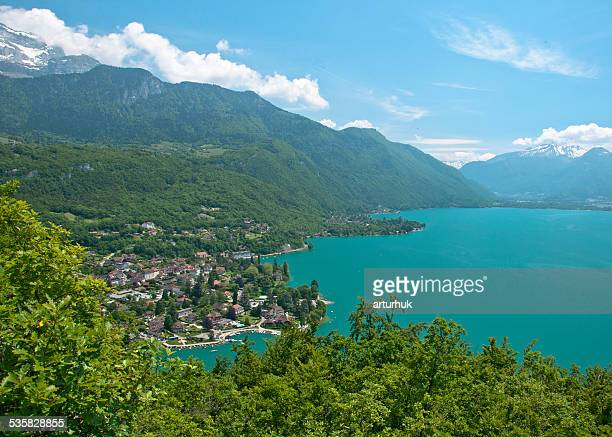 France, Annecy Lake, View of beautiful lake
