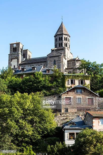 France, Auvergne, Saint-Nectaire with church