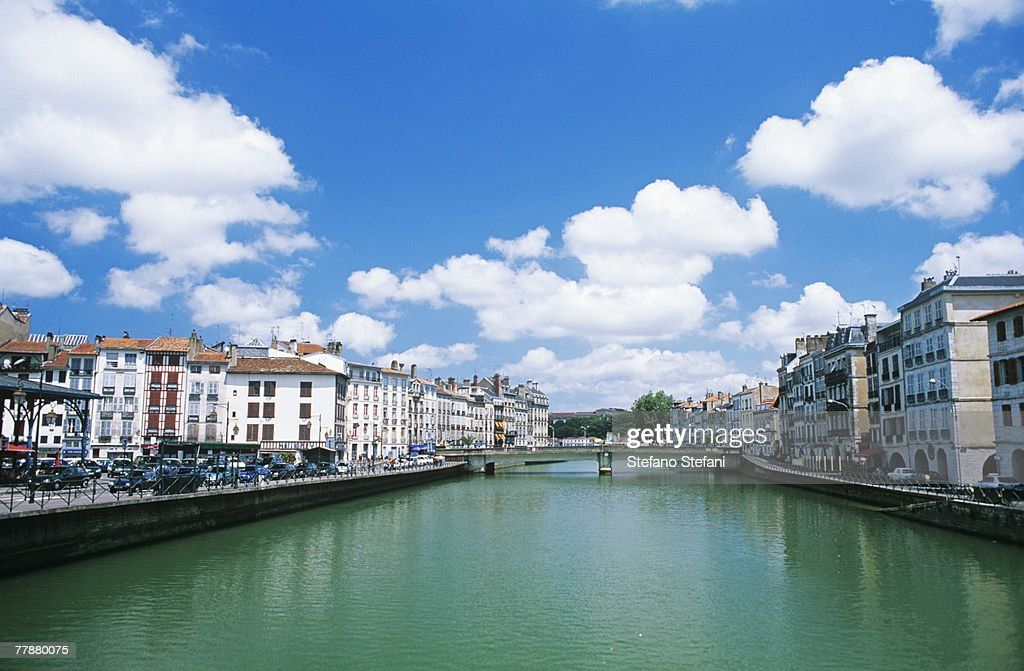 France, Basque Country, Bayonne, River Nive : Stock Photo