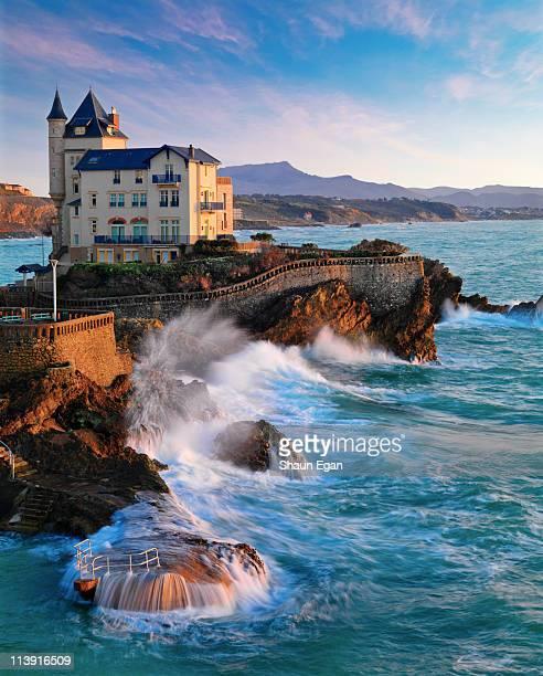 France, Biarritz, Pyrenees-Atlantique, seascape.