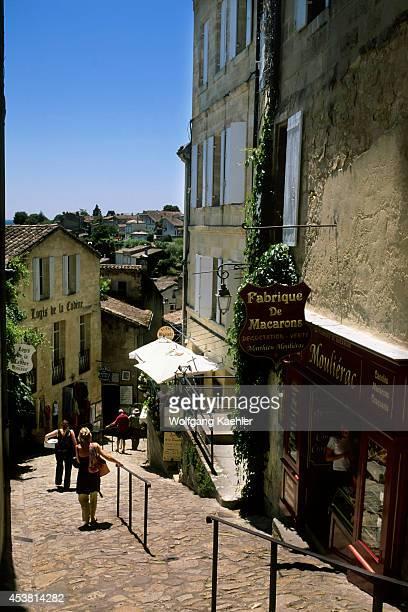 France Bordeaux Region Saintemilion Street Scene Macarones Pastry Store