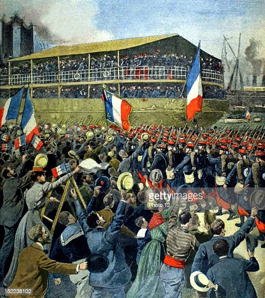 France Boxer Rebellion Troops sailing for China from Marseilles In 'Le Petit Journal' 8261900
