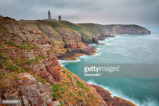 France, Brittany, Cap Frehel with lighthouse