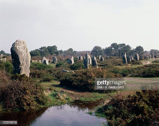 France Brittany Carnac Prehistoric megalithic stone alignments