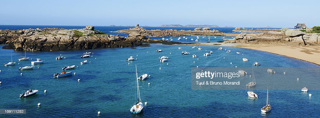 France, Brittany, Cote d'Armor, beach of Tregastel : Stock Photo