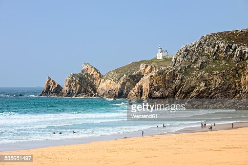France, Brittany, Department Finistere, Crozon peninsula, Beach