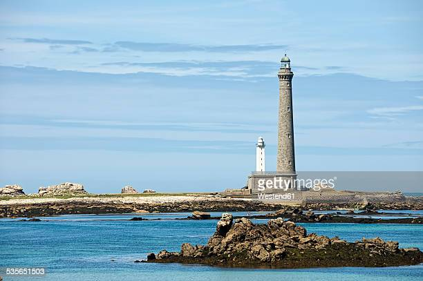 France, Brittany, Department Finistere, Ile Vierge, Lighthouses