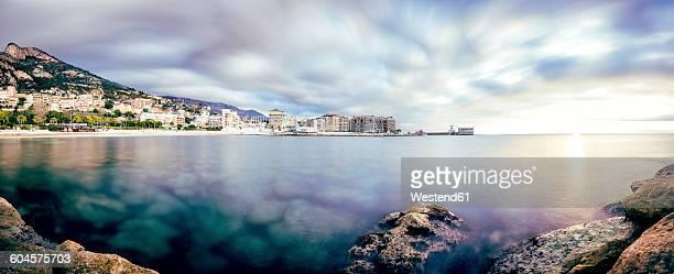 France, Cap dAil, Panorama of port