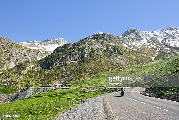 France, Central Pyrenees, Hautes-Pyrenees, Mountain road