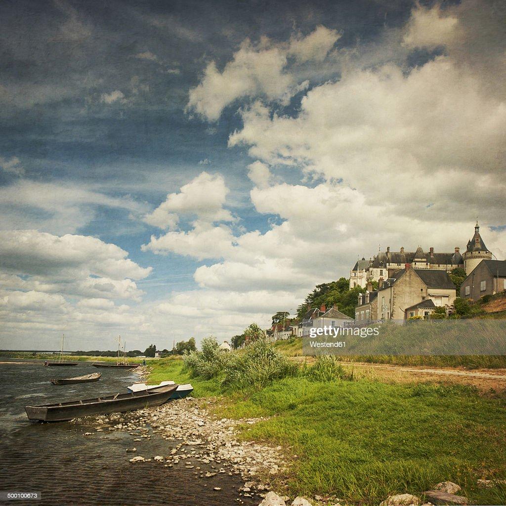 France, Centre, Chaumont-sur-Loire, Chateau at River Loire