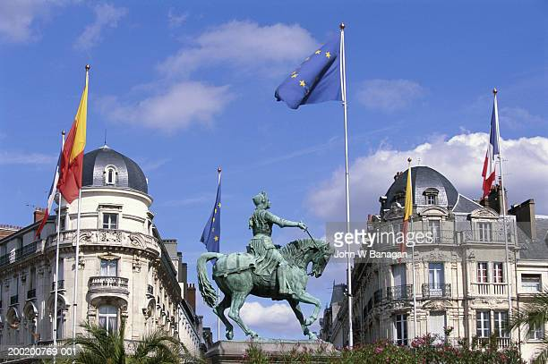 France, Centre, Loiret, Orleans, statue of Joan of Arc